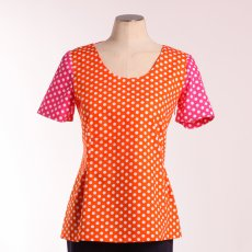 Tunique Radieuse Pois Orange